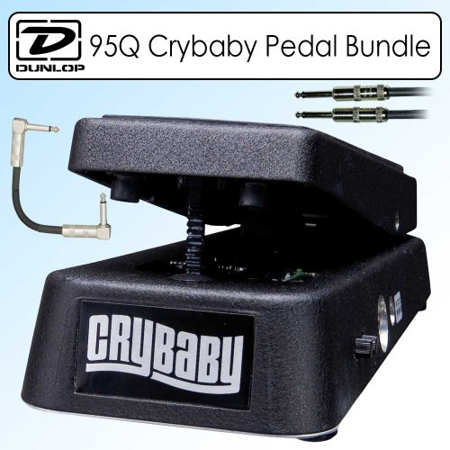 Dunlop 95Q Crybaby Q Wah Wah Pedal Bundle