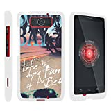 DROID MAXX Case, Slim Fit Snap On Cover with Unique, Customized Design for Motorola DROID MAXX XT1080, Motorola DROID Ultra XT1080M (Verizon) from MINITURTLE | Includes Clear Screen Protector and Stylus Pen - Life at the Beach