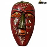 Artlivo Bold Red Decorative Wall Hanging Mask