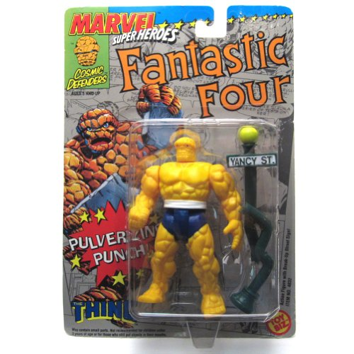 Marvel Super Heroes Fantastic Four the Thing Action Figure Pulverizing Punch - 1