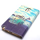 Samsung Galaxy Note 3 Case, Samsung Galaxy Note 3 FUNMAL(TM) Fashion Animal Train Pattern Wallet Stand Case Cover for with PU Leather and Card Slots