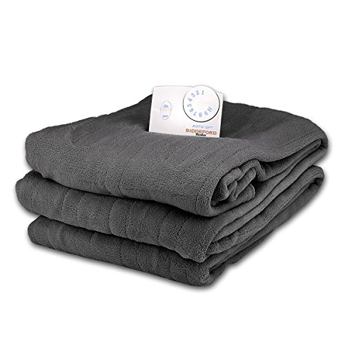 Why Choose Soft Microplush Full Size Electric Heated Blanket by Biddeford (Graphite)