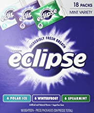 Wrigly's Eclipse Gum, Mint Variety, 18 Count