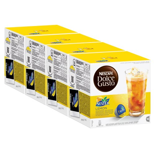 Get Nescafé Dolce Gusto Nestea Lemon, Pack of 4, 4 x 16 Capsules from Nestlé