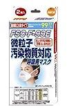 微粒子汚染物質対応 呼吸用マスク 2枚入り
