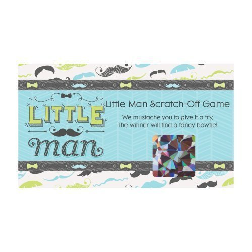 Dashing Little Man - Party Game Scratch Off Cards - 22 Count