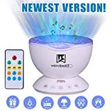 [UPGRADED GENERATION] Weirdbeast Remote Control Ocean Wave Projector Sleep Night Lights Bedroom Living Room Decoration Lamp with Built-in Music Speaker for Kids/Adult - Light Up Your Life