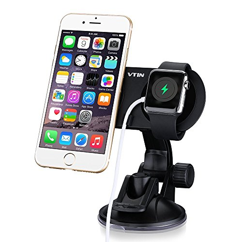 [2-in-1] VicTsing Universal Car Phone Mount Holder with Dual Powerful Magnetic Cradle, 360 Degree Rotation, Both Dashboard & Windshield Available Holder for Apple Watch, iPhone 6, iPhone 6 plus, Nokia, Motorola, HTC, Sony and More