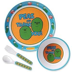 VeggieTales: Peas and Thank You! Mealtime Set