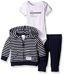 Carter\'s Baby Boys\' 3 Piece Cardigan Set (Baby) - Navy Stripe - Newborn