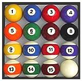 Pool Table Billiard Ball Set, Traditional Style