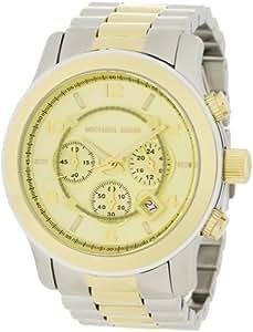 Michael Kors Men's MK8098 Two-Tone Oversize Runway Watch