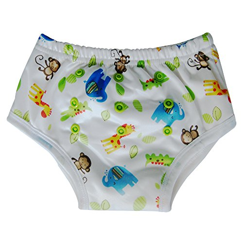 Potty Training Underwear Pants for Toddler / Bamboo Inner, Safari - 1