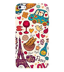 Paris Special 3D Hard Polycarbonate Designer Back Case Cover for Apple iPhone 4S
