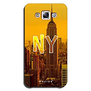 Mozine Looking Through New York Printed Mobile Back Cover For Samsung E7