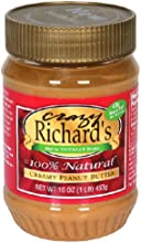 Crazy Richard Creamy Peanut Butter Tter 16-Ounce -Pack of 12