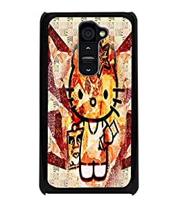 PrintDhaba Kitty D-4970 Back Case Cover for LG G2 (Multi-Coloured)