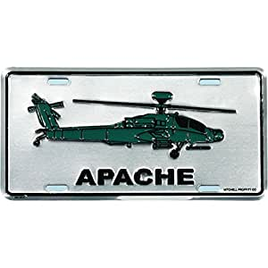 Amazon Com Us Army Apache Helicopter License Plate