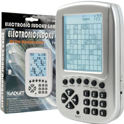 Picture of Trademark NEW Electronic Sudoku Reasoning and Logic Game (Miscellaneous) (B005HZNMIK) (Sudoku Puzzles)