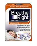 Breathe Right Advanced for Sensitive Skin, Clear, 26 Count