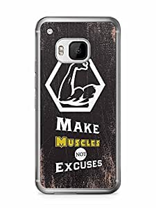 YuBingo Make Muscles, Not Excuses….. Designer Mobile Case Back Cover for HTC One M9