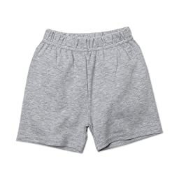 Zutano Baby Boys Heathered Shorts, Gray, 18 Months