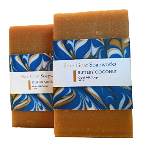 Pure Goat Soapworks Buttery Coconut and Island Sands Tropcial Duo (2-pack)