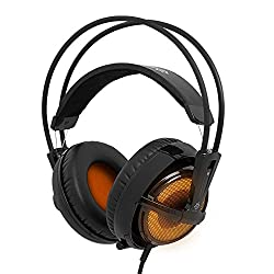 SteelSeries 51141 Siberia v2 Full-Size Illuminated - Heat Orange Edition Headset