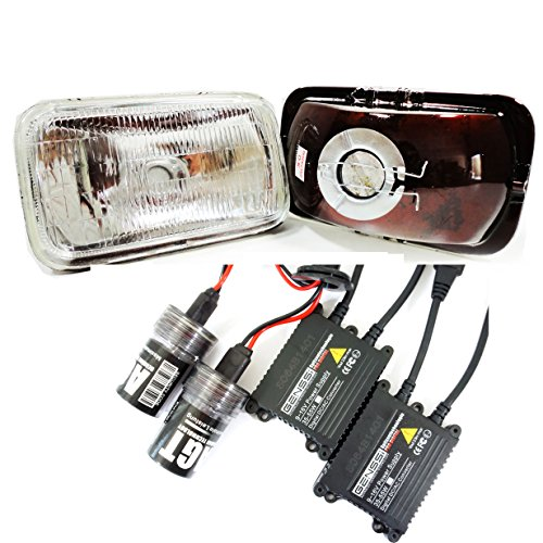 Headlights H4351 H4352 with 6000K Xenon HID Kit Fits Chevy Camaro 93-97 (97 Chevy Hid Headlights compare prices)