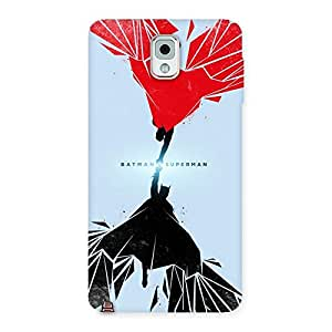 Impressive Day Vs Knight Punch Multicolor Back Case Cover for Galaxy Note 3