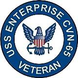 """US Navy USS Enterprise CVN-65 Ship Veteran Decal Sticker 3.8"""""""