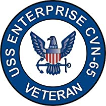 US Navy USS Enterprise CVN-65 Ship Veteran Decal Sticker 5.5""