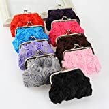 Rose Flower Candy Color Hasp Coin Purse