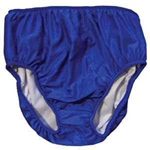 "Adult Swim Diapers - Reusable Diaper for the Pool (XS-Waist: 22-34""; Leg: 15-22"", Blue) from My Pool Pal"