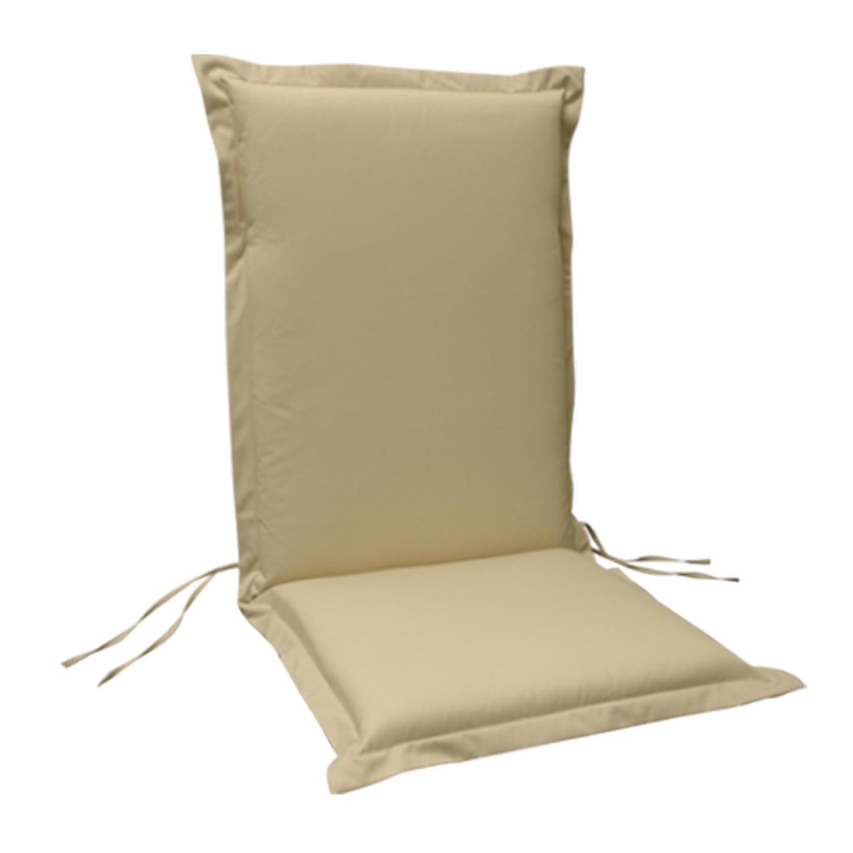 6 x indoba – Sitzauflage Hochlehner Serie Premium – extra dick – Beige günstig kaufen