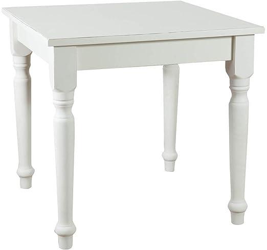 TABLE BLANC, TILLEUL MASSIF 80x80x78 CM