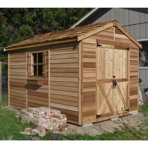 Lifetime sheds cedar shed 8 x 12 ft rancher storage shed for Discount shed