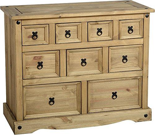 Corona 4 + 3 + 2 cajones en el pecho, armario, madera de pino maciza, de madera de pino
