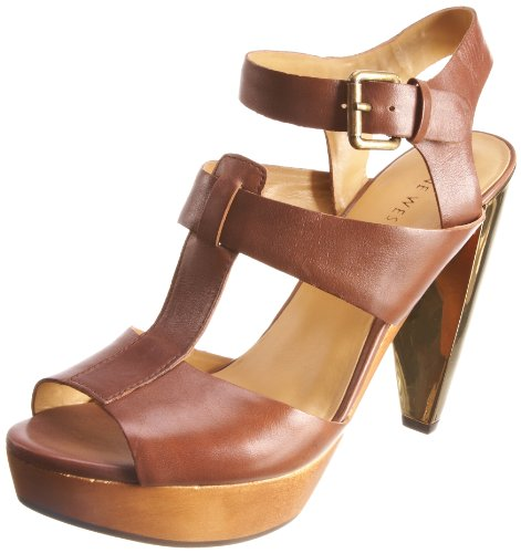 Nine West Women's Genevive Brown Ankle Strap Heel 1924331109 8 UK