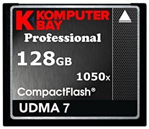 KOMPUTERBAY 128GB Professional COMPACT FLASH CARD CF 1050X WRITE 100MB/S READ 160MB/S Extreme Speed UDMA 7 RAW 128 GB