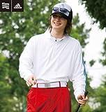 【大きいサイズ】 ADIDAS GOLF スタンドジップシャツ (ホワイト) (3XO 4XO 5XO 6XO 7XO)