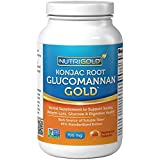 NutriGold Glucomannan GOLD, Konjac Root Fiber For Weight-loss, 700mg, 120 Vegetarian Capsules