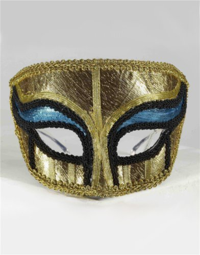 Deluxe Egyptian Male Masquerade Mask on Glasses
