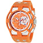 Stainless Steel Reserve Chronograph Swiss Quartz Orange Strap