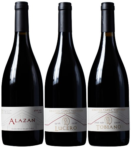 Kingston Family Vineyards Cool Climate Reds Mixed Pack, 3 X 750 Ml