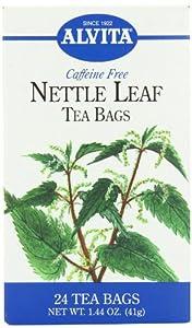 Alvita Tea Bags, Nettle Leaf, Caffeine Free, 24 tea bags [1.44 oz (41 g)] (Pack of 3)