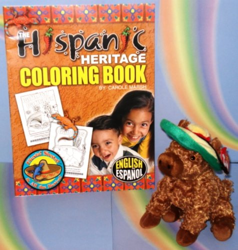 Siesta the Donkey (Mule, Burro) with a Sombrero AND The Hispanic Heritage Coloring Book (Bilingual, in English and Spanish) (Donkey and Book Combo) - Buy Siesta the Donkey (Mule, Burro) with a Sombrero AND The Hispanic Heritage Coloring Book (Bilingual, in English and Spanish) (Donkey and Book Combo) - Purchase Siesta the Donkey (Mule, Burro) with a Sombrero AND The Hispanic Heritage Coloring Book (Bilingual, in English and Spanish) (Donkey and Book Combo) (Ty, Toys & Games,Categories,Stuffed Animals & Toys,Animals)