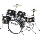Mendini MJDS-5-BK Complete 16-Inch 5-Piece Black Junior Drum...