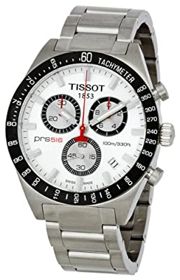 Tissot PRS516 Quartz Stainless Steel Band Silver Dial Men's Watch - T0444172103100 by Tissot