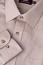 Pure Cotton Plain Twill Shirt [T11-1993-S]